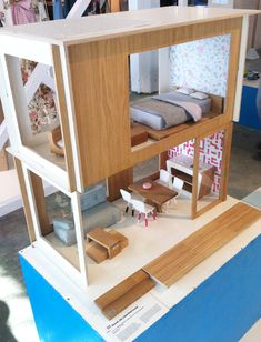 Modern Doll house from miniio @M. Derek Rigby you could probably make something like this.