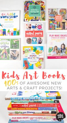 Looking for arts & crafts ideas for the children in your life? These great new art activity books for kids are filled with hundreds of creative activities! Art Books For Kids, Kids Activity Books, Book Activities, Art For Kids, Kid Books, Creative Activities For Kids, Creative Kids, Kids Collage, Teaching Art