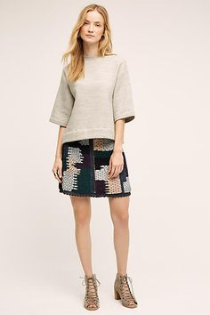Not So Serious by Pallavi Mohan Austinian Tweed Mini Skirt