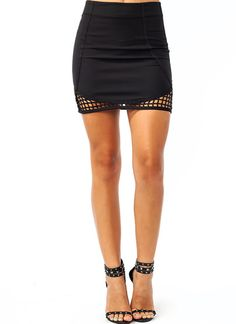 Latticed Mini Skirt