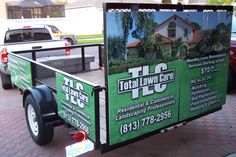 Have Pat make a wrap for the trailer! Lawn Mowing Business, Lawn Care Business, Business Logo, Yard Maintenance, Landscape Maintenance, Landscaping Equipment, Landscaping Company, Yard Service, Mowing Services