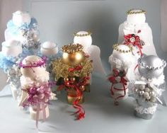 Glittery Spindle Angels | AllFreeChristmasCrafts.com
