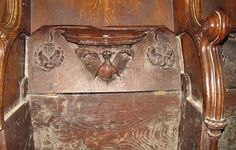 St Martin's Church, Herne, Kent - Misericord in chancel - geograph.org.uk - 857975 - Category:Misericords in England - Wikimedia Commons