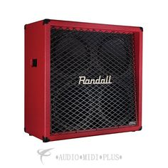 Randall Guitar 4x12 Speaker Cabinet Red - RD412-V-RED-U