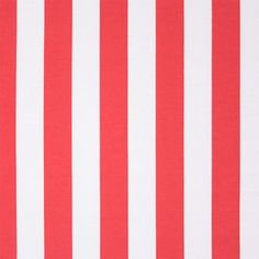 "Hot Coral White Vertical Stripe Ponte de Roma Fabric - Hot coral pink and white vertical stripe Ponte De Roma knit.  Ponte de Roma fabric is a thicker medium weight and has a nice stretch, excellent drape, and great recovery.   Fabric has a subtle horizontal texture.  Stripes measure 1 1/4"" and run the length of the fabric, not the width.  Amazing designer fabric great for maxi skirts, dresses, tops, and more!   ::  $7.50"