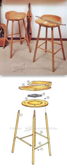Swivel Bar Stool Plans - Furniture Plans and Projects | WoodArchivist.com