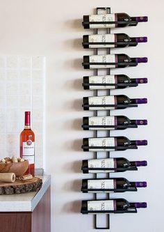 """Weinregal """"Dies"""" 116cm aus Metall für 10 Flaschen Flaschenständer Wandregal"""