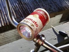 5f56cd3aa43 LED soup/food can bike light by ArtLessing on Etsy, $45.00 Fiets Licht,
