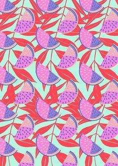Tropical watermelon pattern