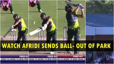 Shahid Afridi SIX Out OF Ground On the Roof  www.cricvista.com