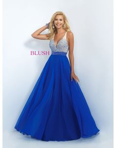 Beaded Bodice Gown by Blush on Charlotte's Closet