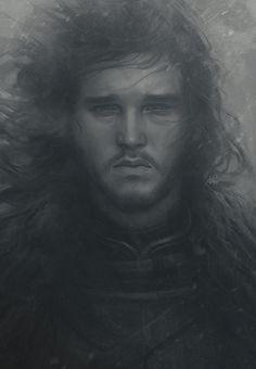 Snowing Jon by Artgerm.deviantart.com on @DeviantArt