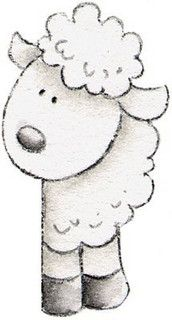 Molduras e Barras - Carla Simons - Picasa Web Albums Baby Drawing, Line Drawing, Sheep Cards, Eid Cards, Sheep And Lamb, A Christmas Story, Nursery Rhymes, Sheep Nursery, Craft Patterns