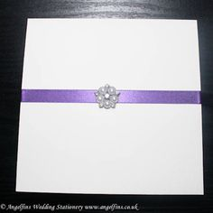 Cadburys Purple and Pearl Pocketfold Invitations - Vintage Wedding Stationery Scotland - VOWS Award Nominee 2013 Purple Wedding Stationery, Vintage Wedding Invitations, Wedding Invitation Design, Pocketfold Invitations, Dot Texture, Purple Ribbon, Gift List, Vows, Thank You Cards