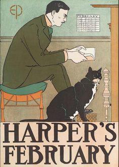 Harper's February, Edward Penfield (1898)