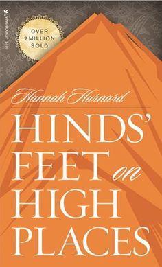 Hinds' Feet on High Places by Hannah Hurnard   This book is a beautiful allegory dramatizing the yearning of God's children to be led to new heights of love, joy, and victory. The main character, Much-Afraid, is plaqued by fear and doubt. Travel with her on her spiritual journey through desperate times and difficult places with her two companions, Sorrow and Suffering. Learn how Much-Afraid overcomes her torment and develops the kind of relationship with her Lord that he desires for us all.