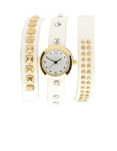 Wrapped Pyramid Stud Watch Bracelet: Charlotte Russe
