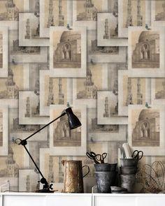 Set 3 role Tapet Imprimat Digital Arabian Monuments #inspiration #ideiredecorare Of Wallpaper, Pattern Wallpaper, Amazing Wallpaper, Mind The Gap, Eclectic Design, Interior Design, Modern Shop, Ancient Symbols, Burke Decor