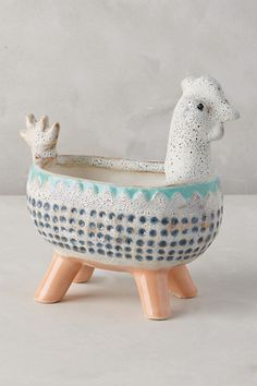 Charming Critter Planter #anthropologie hedgehog
