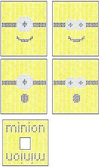Minion Face Inspired Plastic Canvas Tissue Box Cover by PCDesignz