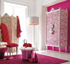 dream dressing room, only if the colors were green and purple <3 Cute Girls Bedrooms, Pink Bedroom For Girls, Teenage Girl Bedrooms, Pink Room, Little Girl Rooms, Pink Bedrooms, Tween Girls, Girls Bedroom Accessories, Girls Bedroom Furniture