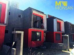#construction #construccion #construye #detalles #details #cielo #sky #rojo #gris #red #gray #minimalista #minimalism #modern #casa #house #building #new #fraccionamiento #condominio #blanco #white #fachada #home #hogar #bienvenido #welcome