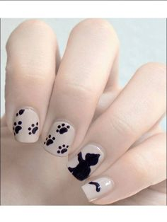 The latest cat nail art is no longer limited to just painting on nails, it directly turns nails into a cat's head. Fabulous Nails, Gorgeous Nails, Love Nails, How To Do Nails, Pretty Nails, Cat Nail Art, Cat Nails, Nagel Blog, Cute Nail Designs