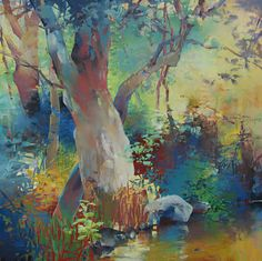 Portland, OR artist Randall David Tipton I could wear this art work would love to see it in the form of fabric!