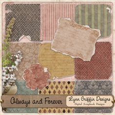 Always and Forever Old Papers (PU/S4H/S4O) by #LynnGriffin