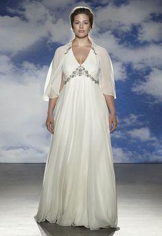 #Vestido con corte imperio de la colección 2015 de #Jenny #Packham. Vestidos de novia para gorditas de la colección 2015 de Jenny Packham