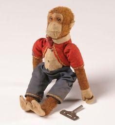Antique+toys   Vintage Bing Werke Mechanical Monkey Toy   Antique Helper