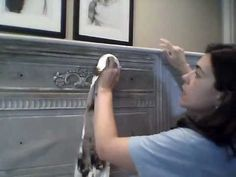 Waxing Furniture with Dark and Clear Wax over Annie Sloan Chalk Paint - YouTube