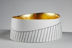 large parian vessel with gold leaf interior by Lara Scobie
