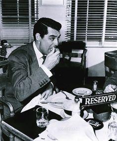 Cary Grant lunch on the set of Arsenic And Old Lace