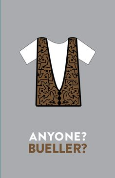 Ferris Bueller's Day Off (1986) ~ Movie Quote Poster by Hayley Lane #amusementphile