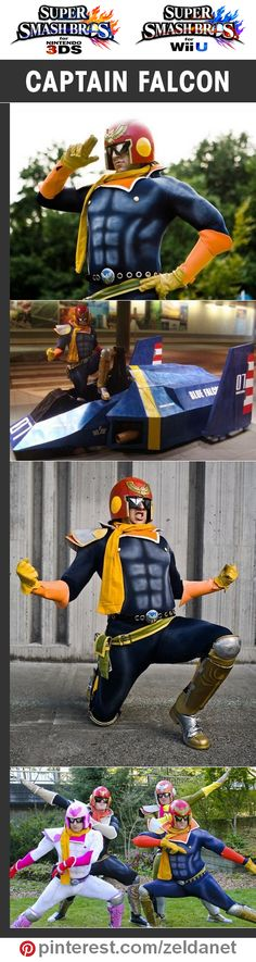 Captain Falcon by Ninjattorney in Super Smash Bros cosplay series | @nintendo #3DS #WiiU Credits in original post at http://www.pinterest.com/zeldanet/super-smash-bros-cosplay-series/