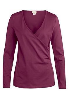 - Wickelshirt aus reiner Bio-Baumwolle Shirts, Blouse, Long Sleeve, Tops, Sleeves, Women, Fashion, Shell Tops, Cotton
