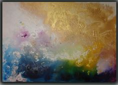 ORIGINAL acrylic Painting by Tatjana Ruzin ---- Sunset Clouds --- Select a Size - Made To Order