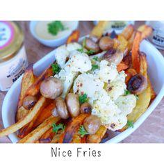 Nice Fries / Sweetpotato Fries www.iherzfood.com #sweetpotatofries
