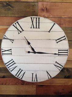 reloj de pared de palet