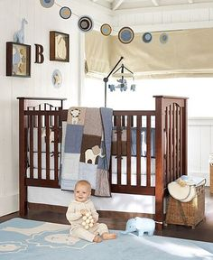 Chocolate and Blue Baby Boy Room