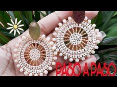 ❤MANDALAS EN MOSTACILLA/aretes/Bisuteria - YouTube Bead Jewellery, Bead Earrings, Chandelier Earrings, Beaded Jewelry, Crochet Earrings, Beaded Bracelet Patterns, Beaded Bracelets, Handmade Beads, Handmade Jewelry