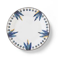 Porcelain Dessert Plate 'Bahia' by Alberto Pinto - Hand painted. Interior Design, Home Decor, Interior Styling, Home Inspiration, Home Styling, Interior Trends, Design Trends, Design Furniture, Interior Accessories, Design for your Home, Decorating Ideas, Interior Design Blog, Living, Styling, Design. http://whatiwouldbuy.com/PORCELAIN+DESIGN+PLATES+TABLEWARE+DINNERWARE