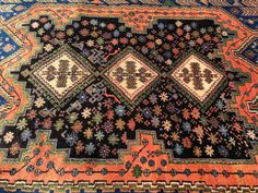 Persian Rug Hand-Knotted Afshar Burnt Red by BijanExclusiveRugs