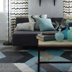 west elm's contemporary rugs come in a variety of prints and solids. Choose from modern area rugs, modern wool rugs and hand-woven rugs. Living Room Carpet, New Living Room, Living Room Decor Grey And Blue, Living Room Sets, Geometric Decor, Geometric Patterns, Modern Area Rugs, Room Rugs, Contemporary Rugs