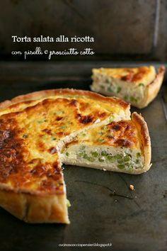 Cucina Scacciapensieri: Torta salata con pasta MATTA alla ricotta, piselli e prosciutto cotto