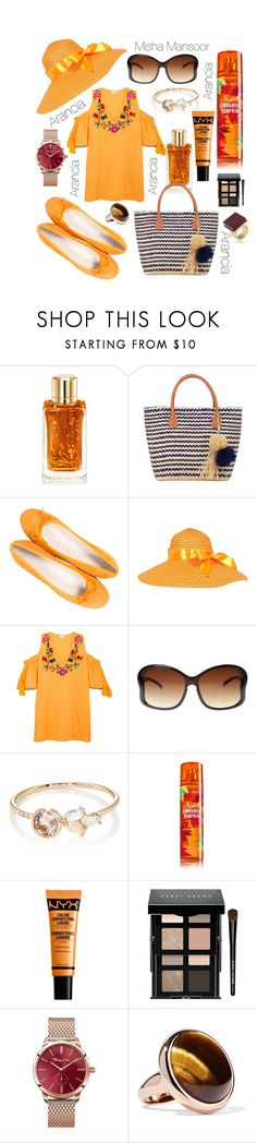 """Arancia"" by onedirectiontown ❤ liked on Polyvore featuring Lancôme, Buji Baja, Paolo Shoes, Sensi Studio, Jennie Kwon, NYX, Bobbi Brown Cosmetics, Thomas Sabo, Eddie Borgo and Trina Turk"
