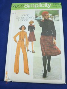 Simplicity 7659 Size 7 Pattern Juniors Unlined Jacket by 2xisnice