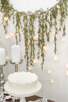 Use our vine garland as a backdrop or table dressing for your holiday or wedding event; pair with crisp cake stands, stately candle holders and globe lights for a complete setting!