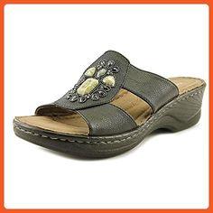 26de3c1a8c22 NaturalSoul by Naturalizer Saymore Women US 7.5 W Black Slides Sandal -  Sandals for women (